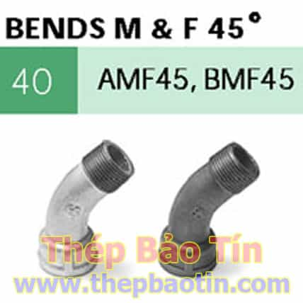 bends m & f 45 degree