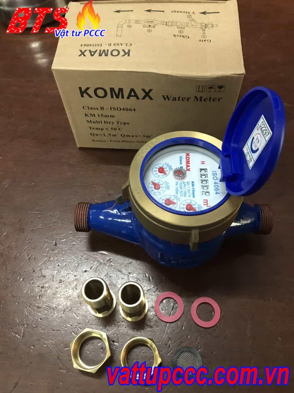 Đồng hồ nước Komax sản xuất tại Hàn Quốc
