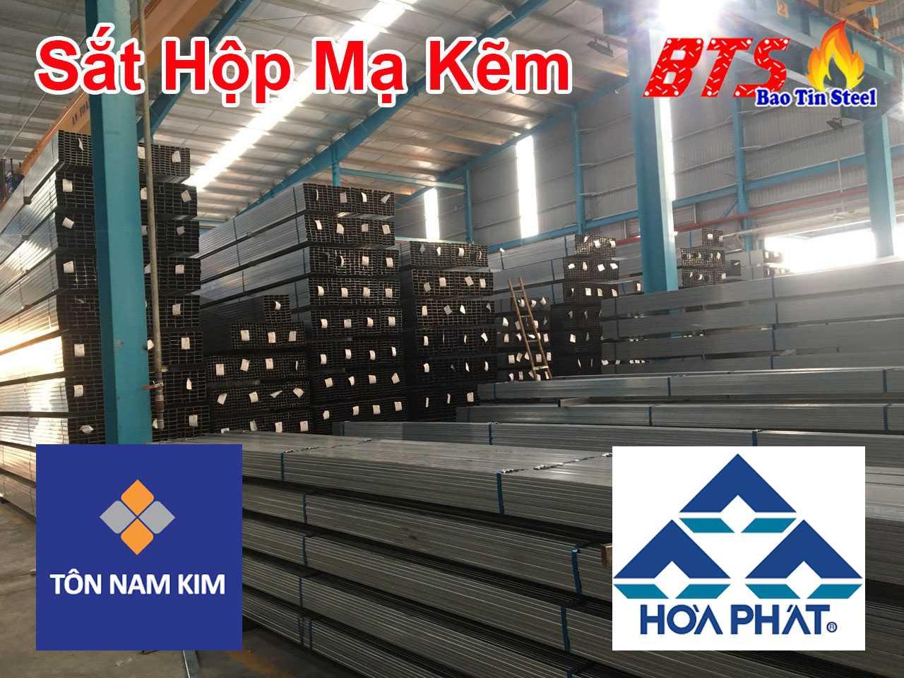 sắt hộp mạ kẽm Hòa Phát Nam Kim